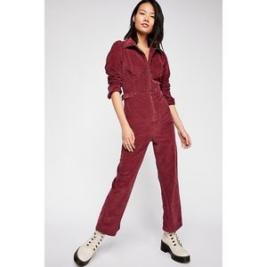 Free People Take Me Out Cord Jumpsuit 2 NEW